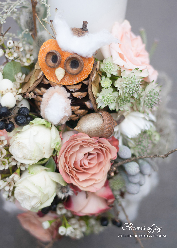lumanari de nunta pret flowers of joy