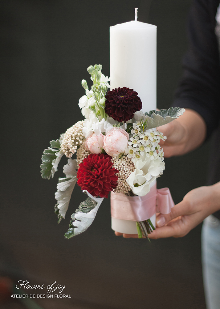 lumanari botez baieti flowers of joy