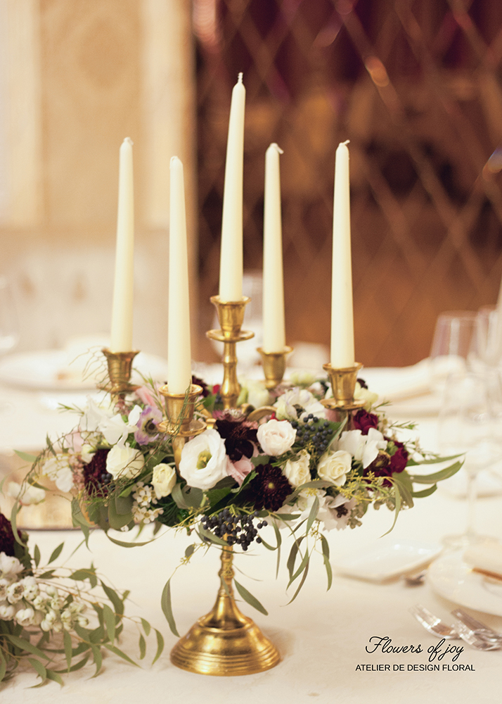 lumanari aranjamente florale nunta flowers of joy